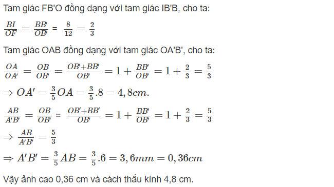 Đáp án bài C7 trang 123 sgk vật lý lớp 9 phần 3