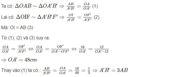 Đáp án bài 2 trang 135 sgk vật lý lớp 9 phần