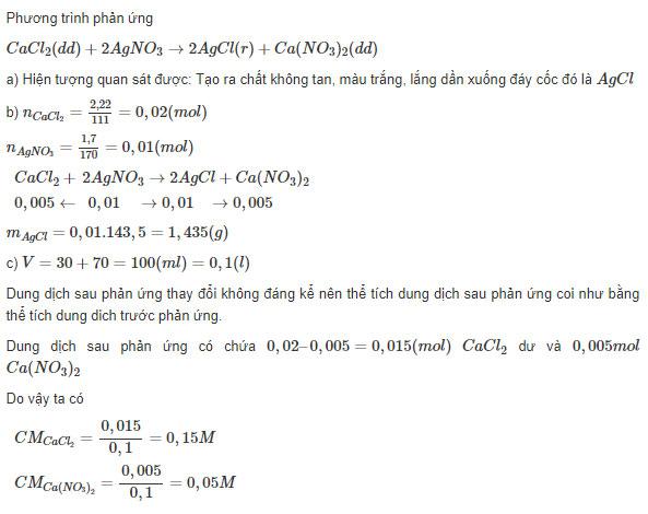 Đáp án bài 6 trang 33 sgk hóa lớp 9