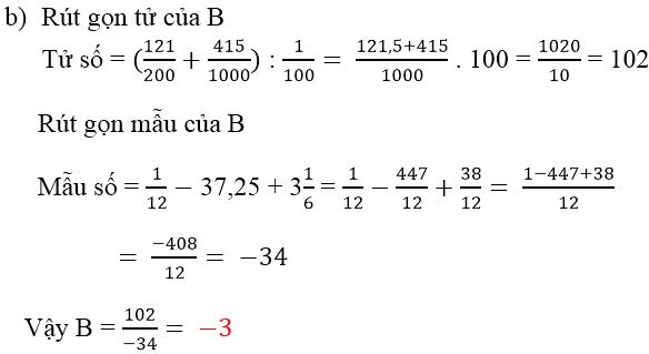 Đáp án câu b bài 176 trang 67 sgk toán 6 tập 2