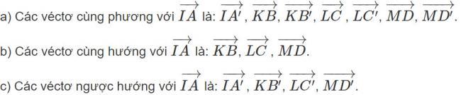 Đáp án bài 1 trang 91 SGK toán hình học lớp 11