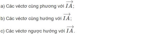 Đề bài 1 trang 91 sách giáo khoa hình học lớp 11