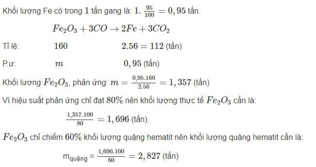 Đáp án bài 6 trang 63 sgk hóa lớp 9