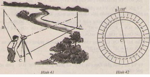 đo góc tren mặt đất