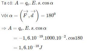 Giải bài 5 trang 25 sách giáo khoa Vật lí 11