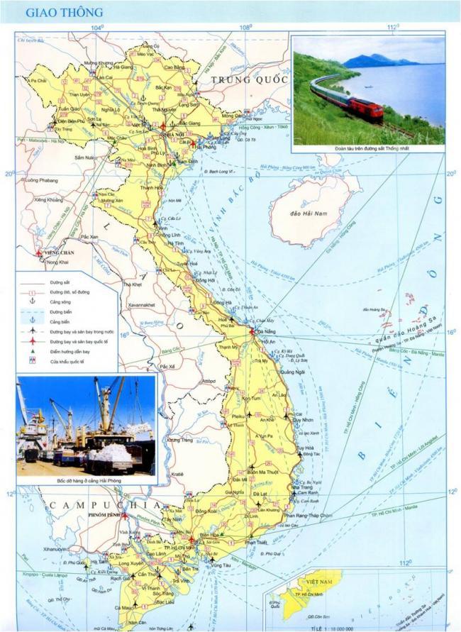 Bản đồ các dạng giao thông Việt Nam