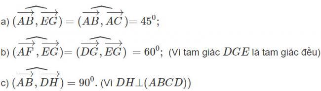 Đáp án bài 1 trang 97 SGK toán hình học lớp 11
