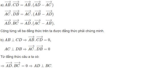 Đáp án bài 2 trang 97 SGK toán hình học lớp 11