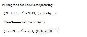 Đáp án bài 3 trang 81 sgk hóa lớp 9