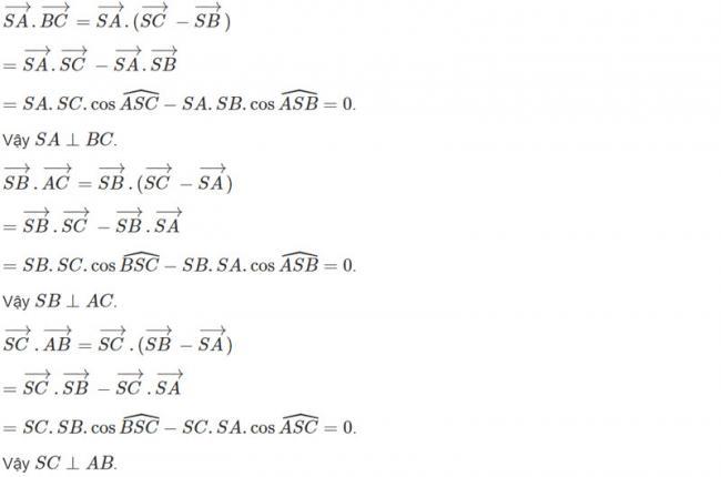 Đáp án bài 5 trang 98 SGK toán hình học lớp 11