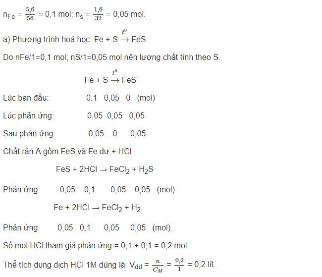Đáp án bài 6 trang 76 sgk hóa lớp 9