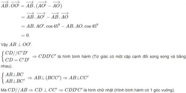 Đáp án bài 6 trang 98 SGK toán hình học lớp 11