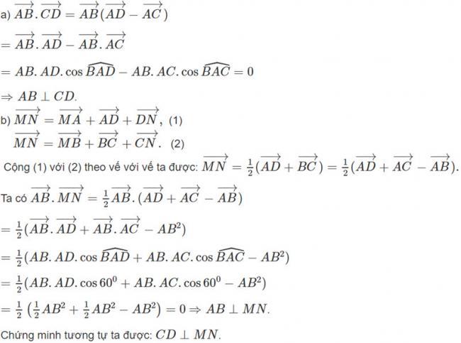 Đáp án bài 8 trang 98 SGK toán hình học lớp 11