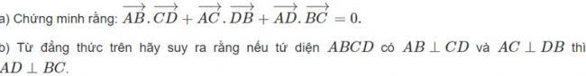 Đề bài 2 trang 97 sách giáo khoa hình học lớp 11