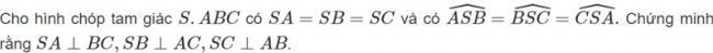 Đề bài 5 trang 98 sách giáo khoa hình học lớp 11