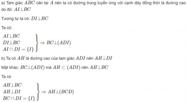 Đáp án bài 2 trang 104 SGK toán hình học lớp 11