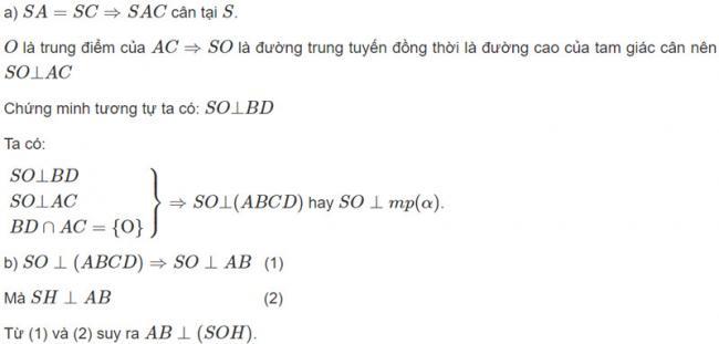 Đáp án bài 5 trang 105 SGK toán hình học lớp 11