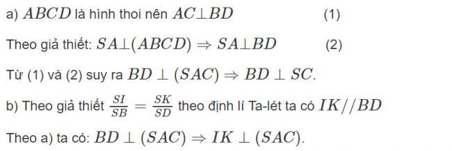 Đáp án bài 6 trang 105 SGK toán hình học lớp 11
