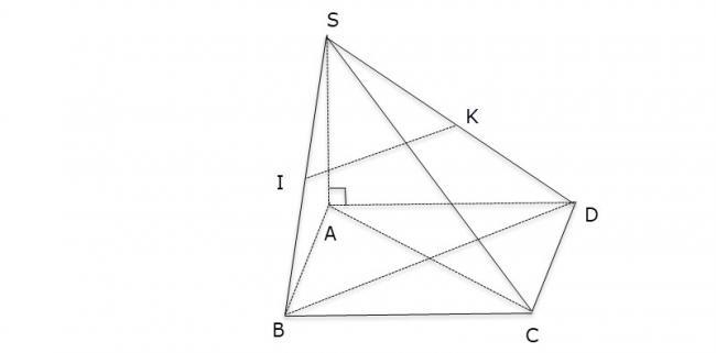 Hình vẽ bài 6 trang 105 sách giáo khoa hình học lớp 11