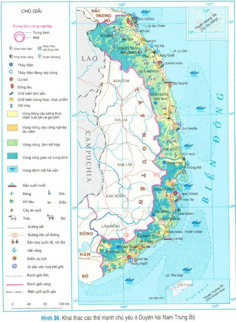 Khai thác các thế mạnh chủ yếu ở Duyên hải Nam Trung Bộ