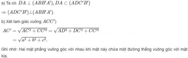 Đáp án bài 7 trang 114 SGK toán hình học lớp 11