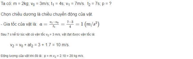 Vật Lý lớp 10 đáp án bài 7 trang 127 sgk