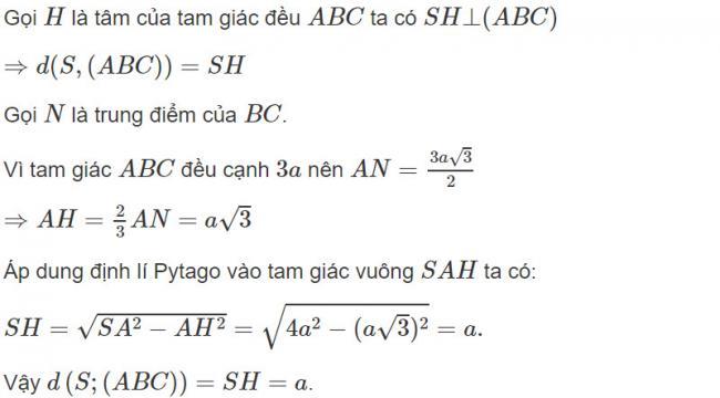 Đáp án bài 7 trang 119 SGK toán hình học lớp 11