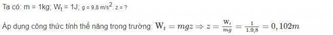 Cách giải bài 3 trang 141 sgk Vật Lý lớp 10