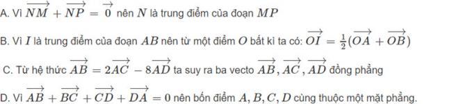 Đề bài 2 trang 122 sách giáo khoa hình học lớp 11