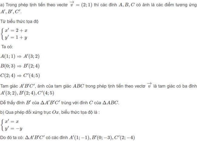 Đáp án bài 1 trang 125 SGK toán hình học lớp 11 câu a b
