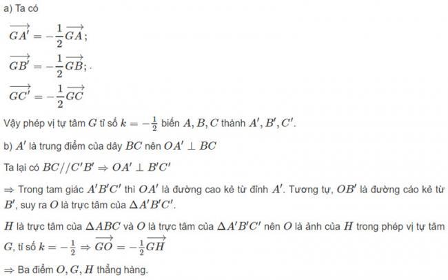 Đáp án bài 2 trang 125 SGK toán hình học lớp 11 câu a b