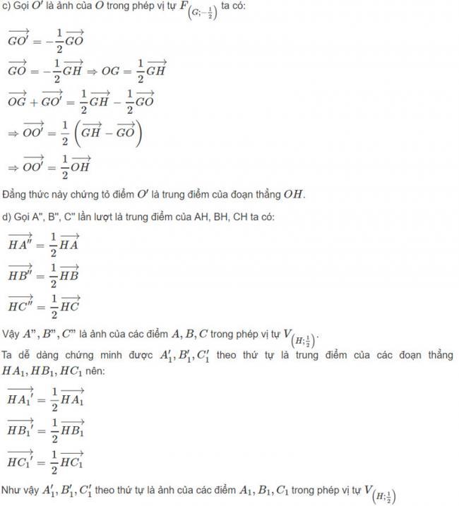 Đáp án bài 2 trang 125 SGK toán hình học lớp 11 câu c d