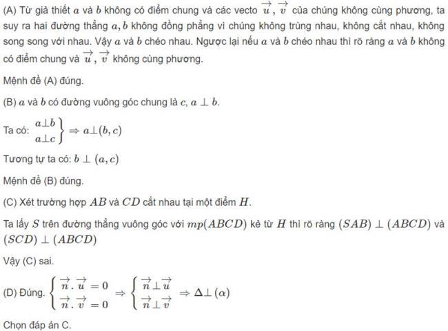 Đáp án bài 6 trang 123 SGK toán hình học lớp 11