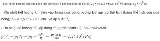 Giải bài tập Vật Lý lớp 10 bài 9 trang 159 sgk