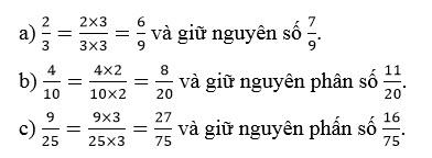 Giải bài 1 trang 116 SGK Toán 4 tiết Quy đồng mẫu số các phân số (tiếp theo) 1