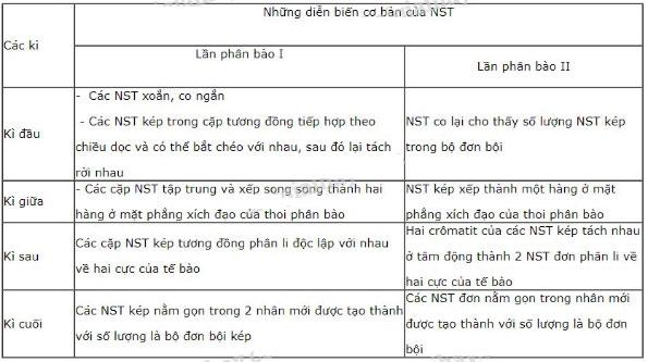 Đáp án bài 1 trang 33 sgk sinh học 9