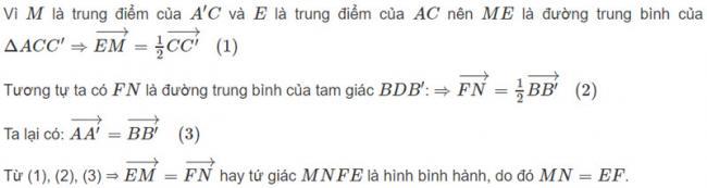 Đáp án bài 4 trang 126 SGK toán hình học lớp 11