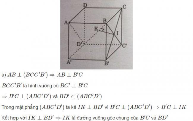Đáp án bài 6 trang 126 SGK toán hình học lớp 11 câu a