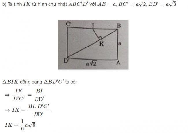 Đáp án bài 6 trang 126 SGK toán hình học lớp 11 câu b