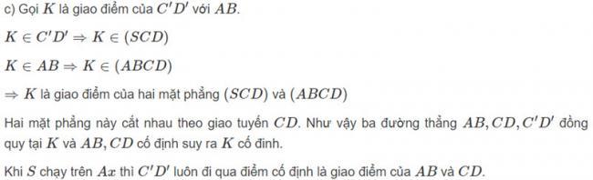 Đáp án bài 7 trang 126 SGK toán hình học lớp 11 câu c