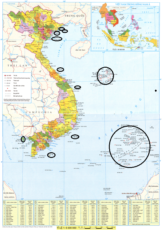Bản đồ hành chính của Việt Nam