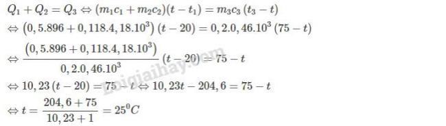 Vật Lý lớp 10 đáp án bài 7 trang 173 sgk