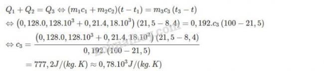 Cách giải bài 8 trang 173 sgk Vật Lý lớp 10