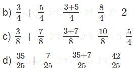 Giải bài 1 trang 126 SGK Toán 4 tiết Phép cộng phân số 2