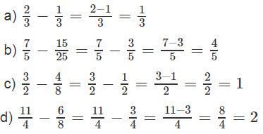 Giải bài 2 trang 129 SGK Toán 4 tiết Phép trừ phân số 1