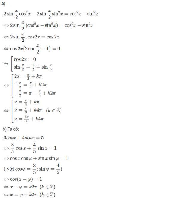 Đáp án bài 3 trang 179 SGK toán đại số và giải tích lớp 11 câu a b