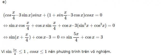 Đáp án bài 3 trang 179 SGK toán đại số và giải tích lớp 11 câu e