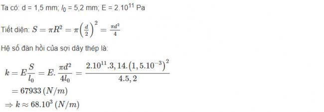 Vật Lý lớp 10 đáp án bài 7 trang 192 sgk