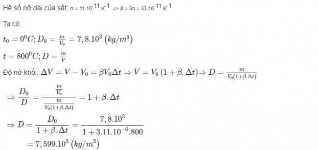 Hướng dẫn giải bài 6 trang 197 sgk Vật Lý lớp 10