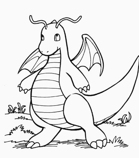 tranh tô màu Dragonite